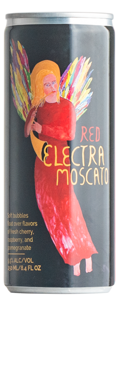Red Electra Moscato 250ml Cans 4-Pack